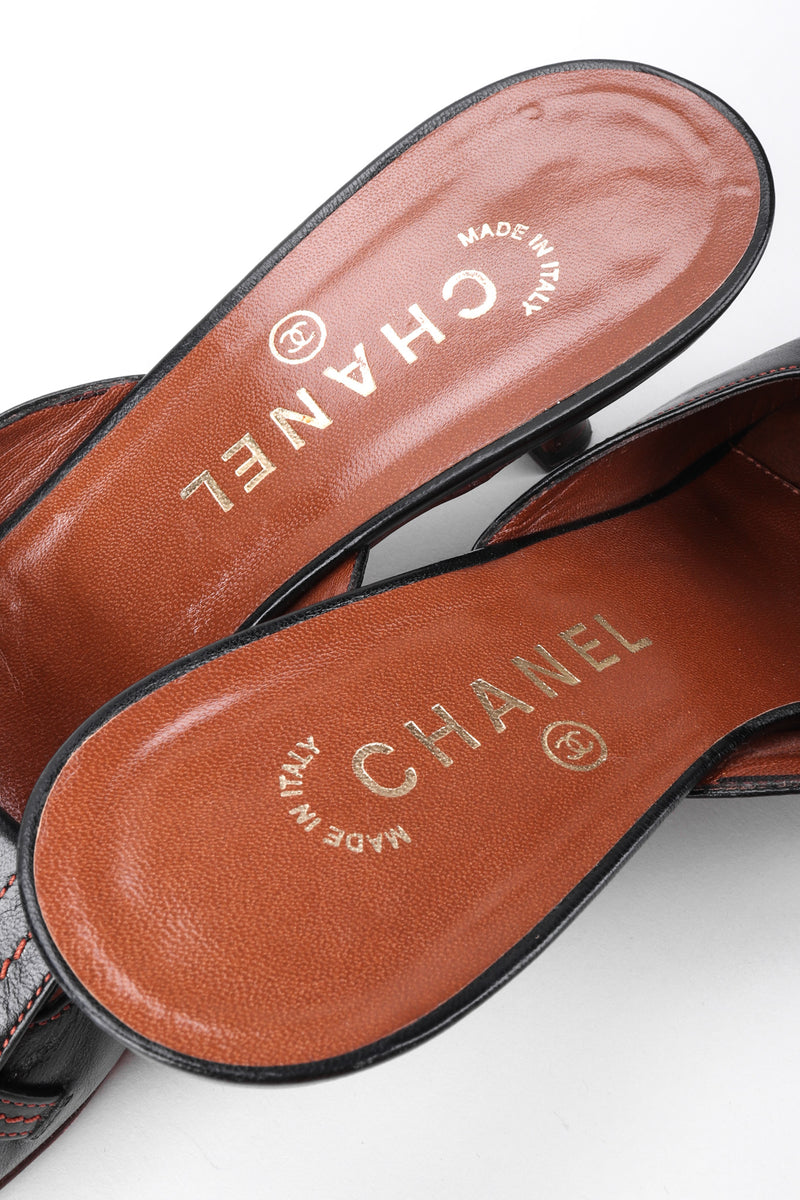 Recess Los Angeles Vintage Chanel Topstitched Loafer Mules