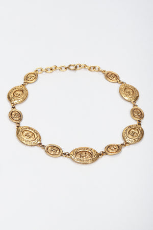 Recess Los Angeles Vintage Chanel Gold Interlocking CC Coin Collar Necklace