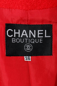 Recess Vintage Chanel Label on Red Fabric