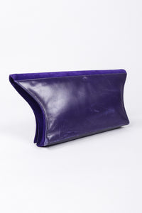 Recess Los Angeles Vintage Electric Suede Anvil Envelope Clutch Purse