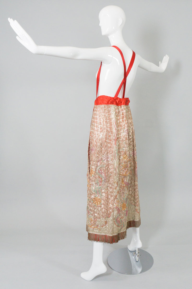 Chinese Metal Embroidered Dragon & Phoenix Vintage Skirt