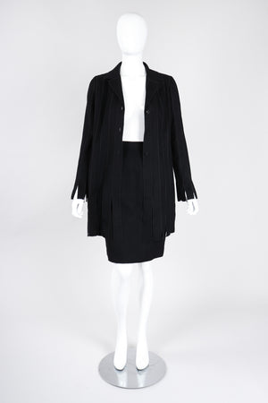 Recess Los Angeles Vintage Chloé Soft Carwash Hem Jacket & Skirt Suit Set
