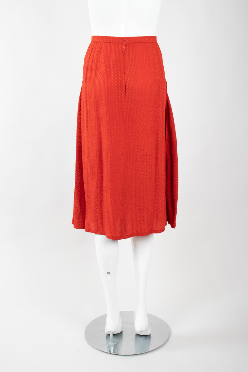 Recess Los Angeles Vintage Chloe Silk Seersucker Tie Top & Skirt Set