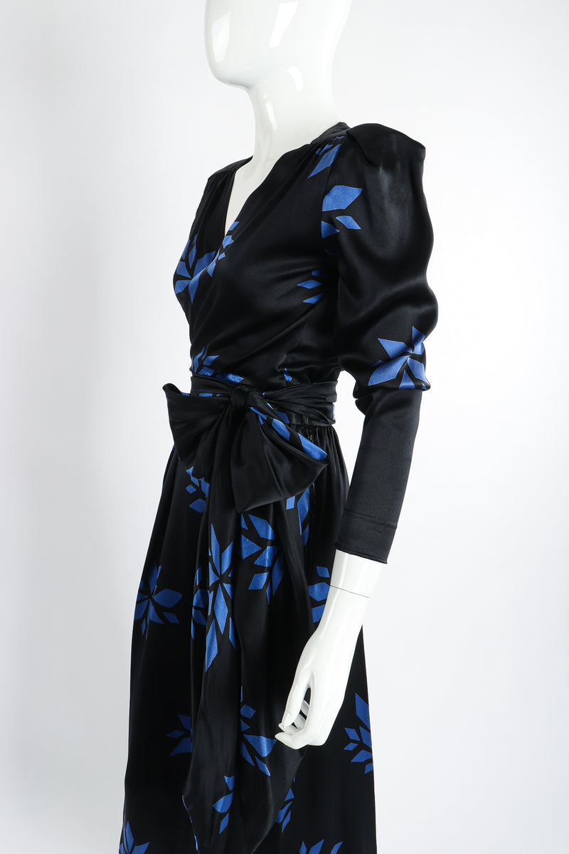 Vintage Christian Dior Geo Wrap Top & Skirt Set on Mannequin Angle Crop at Recess Los Angeles