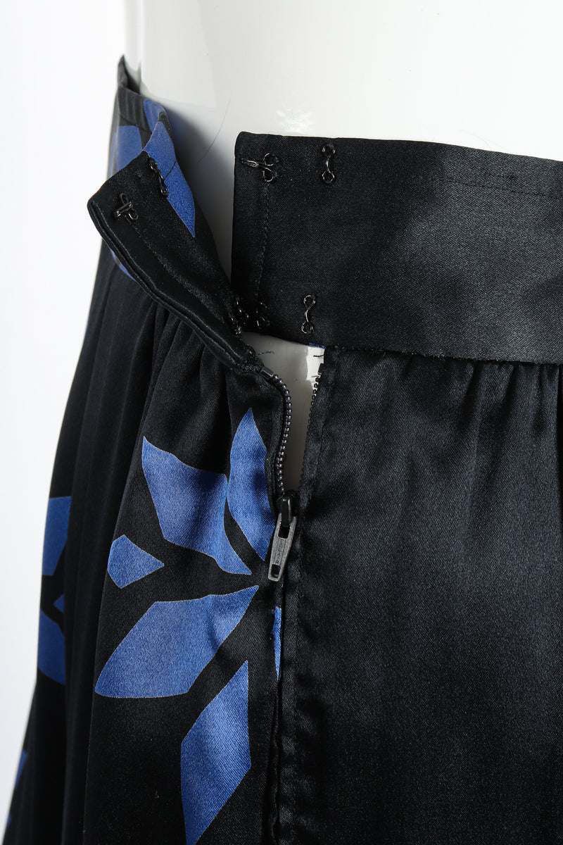 Vintage Christian Dior Geo Wrap Top & Skirt Set waistband detail at Recess Los Angeles