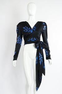Vintage Christian Dior Geo Wrap Top Set on Mannequin front at Recess Los Angeles