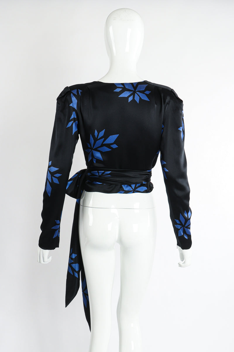 Vintage Christian Dior Geo Wrap Top Set on Mannequin Back at Recess Los Angeles