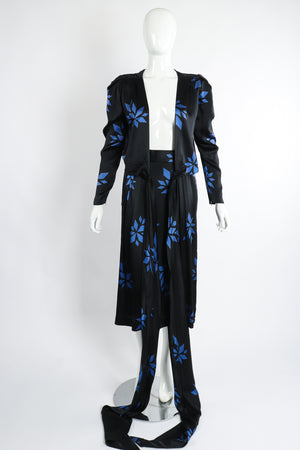 Vintage Christian Dior Geo Wrap Top & Skirt Set on Mannequin Open at Recess Los Angeles