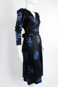 Vintage Christian Dior Geo Wrap Top & Skirt Set on Mannequin Angle at Recess Los Angeles