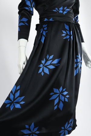 Vintage Christian Dior Geo Wrap Top & Skirt Set on Mannequin Skirt at Recess Los Angeles