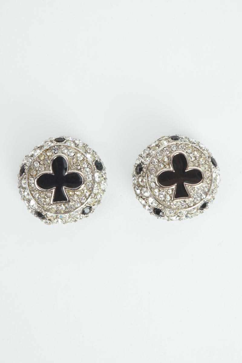 Vintage Christian Dior Crystal Club Suit Earrings at Recess Los Angeles