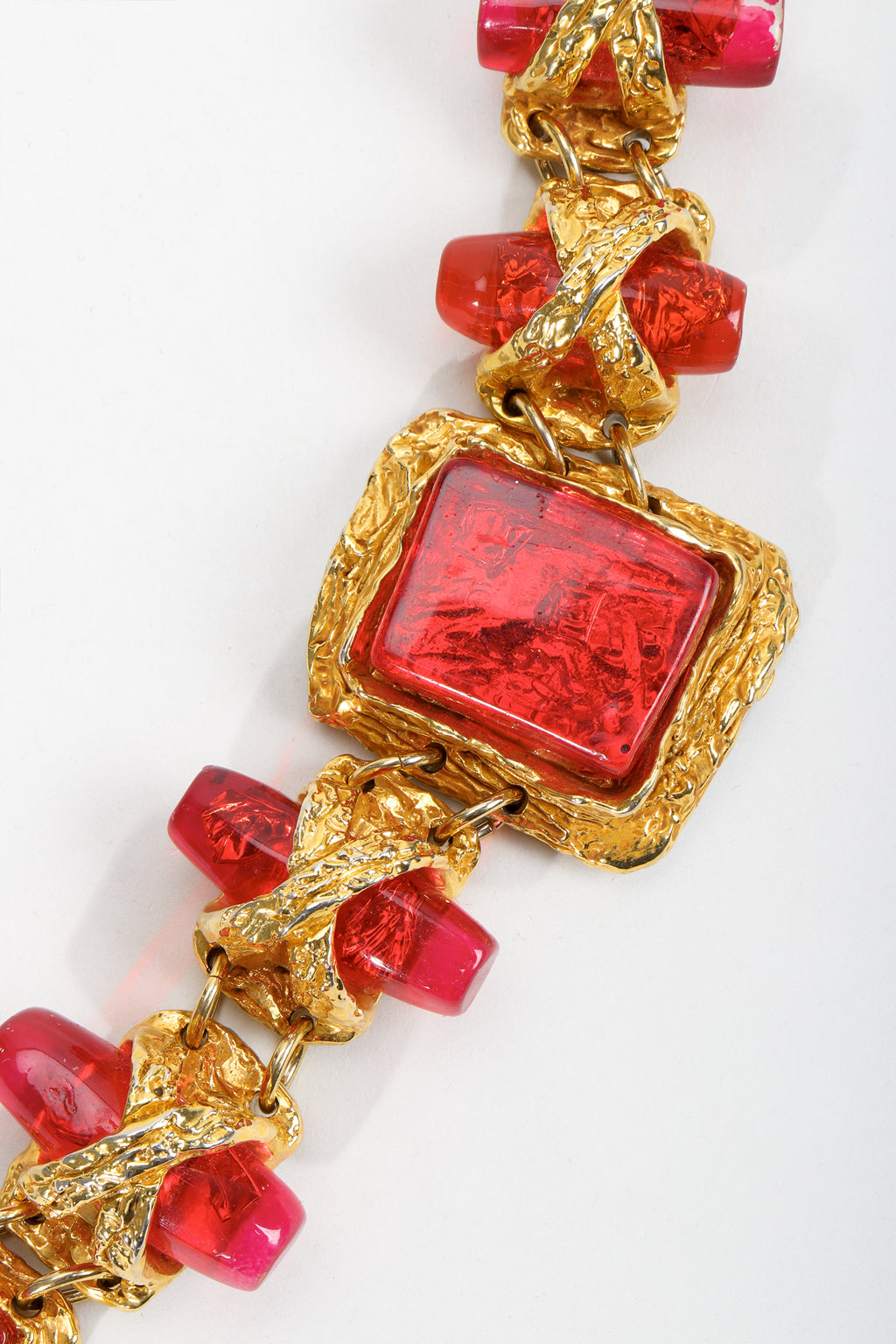 Vintage Christian Lacroix Brutalist Candy Apple Bracelet at Recess Los Angeles