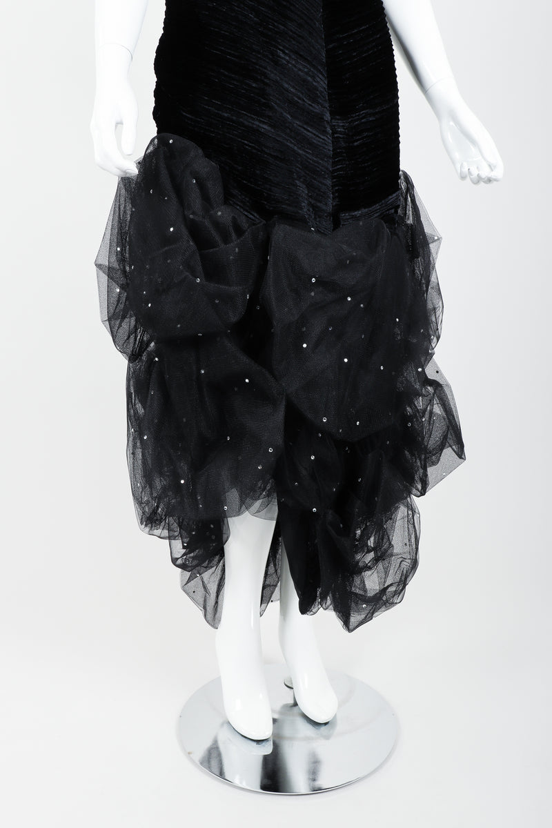 Vintage Claude Pétin Velvet Pouf Midi Dress on Mannequin skirt at Recess Los Angeles