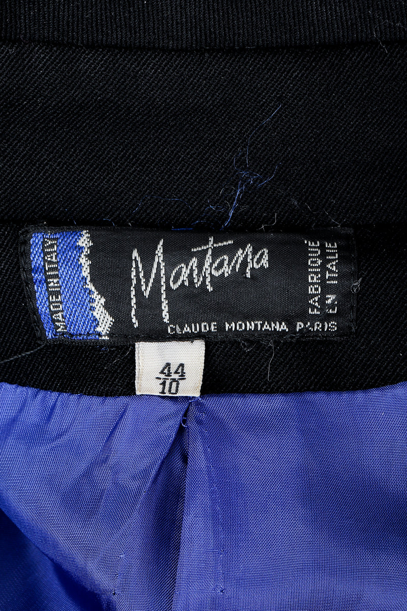 Vintage Claude Montana Label on Black