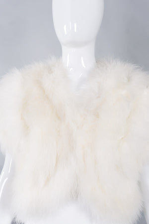 Climax Vintage Marabou Feather Chubby Bolero Shrug Wedding Jacket
