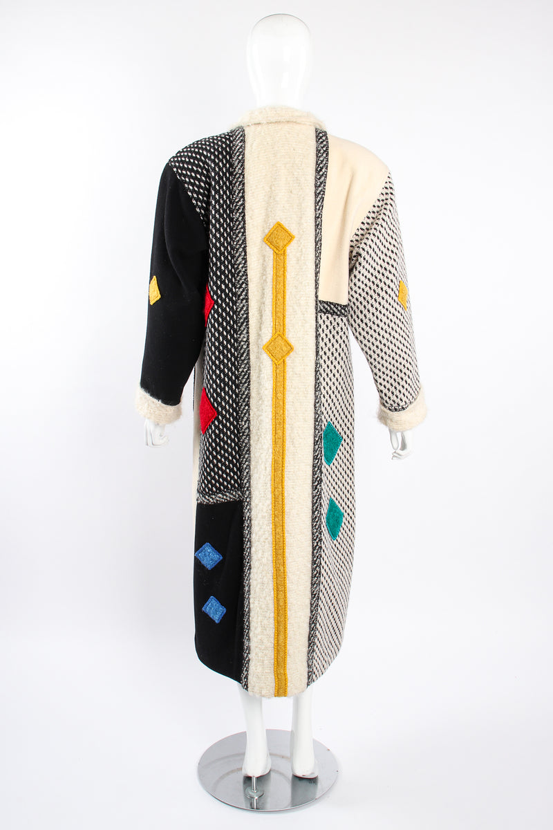 Vintage Coloratura Diamond Mondrian Car Coat on Mannequin back at Recess Los Angeles