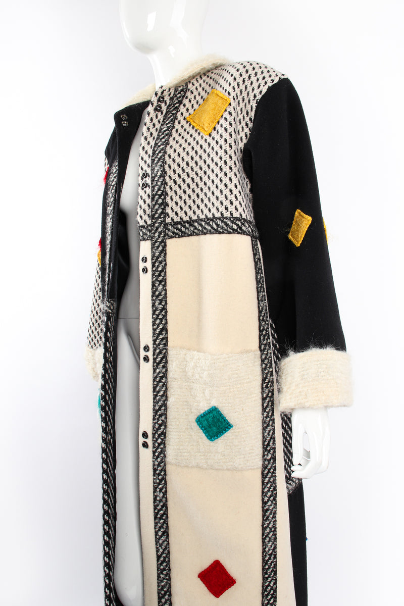 Vintage Coloratura Diamond Mondrian Car Coat on Mannequin crop at Recess Los Angeles