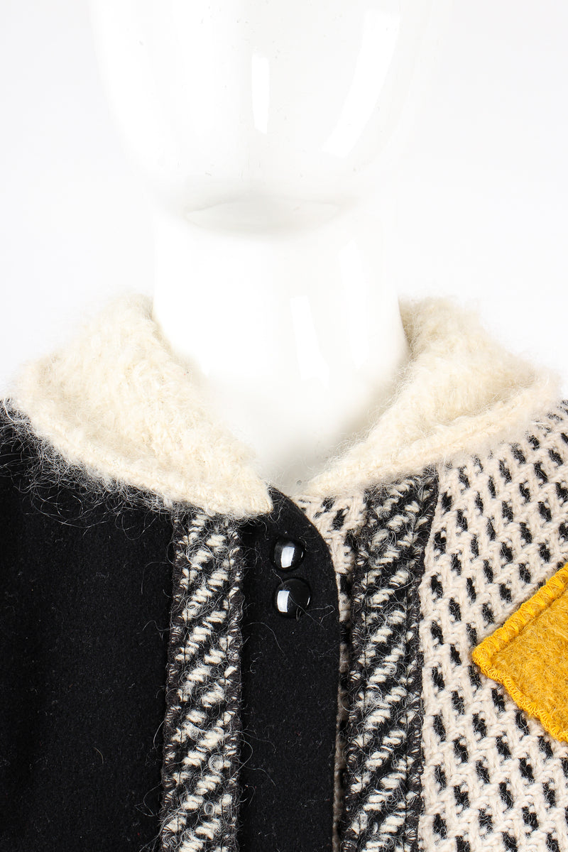Vintage Coloratura Diamond Mondrian Car Coat on Mannequin collar at Recess Los Angeles