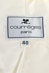 Vintage Courreges Yellow Patent Crinkle Jacket Label at Recess Los Angeles