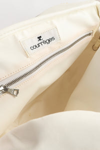 Vintage Courreges Patent Crinkle Bowler Bag Label at Recess Los Angeles