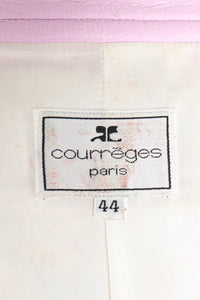 Vintage Courreges Lilac Patent Crinkle Jacket Label at Recess Los Angeles