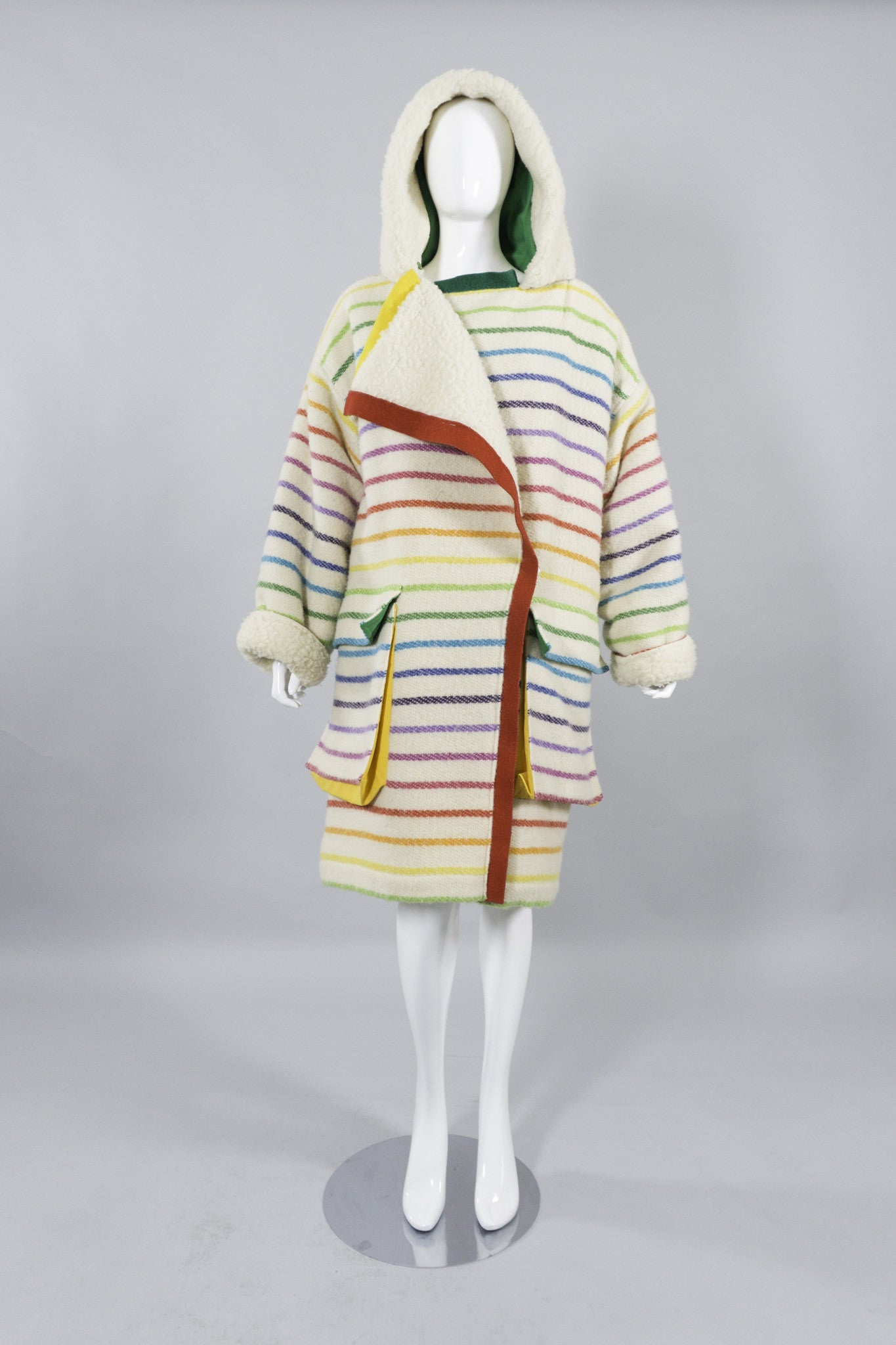 Jean Charles De Castelbajac Rainbow Coat Hooded