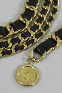 Chanel Triple Chain Belt with Logo Coin