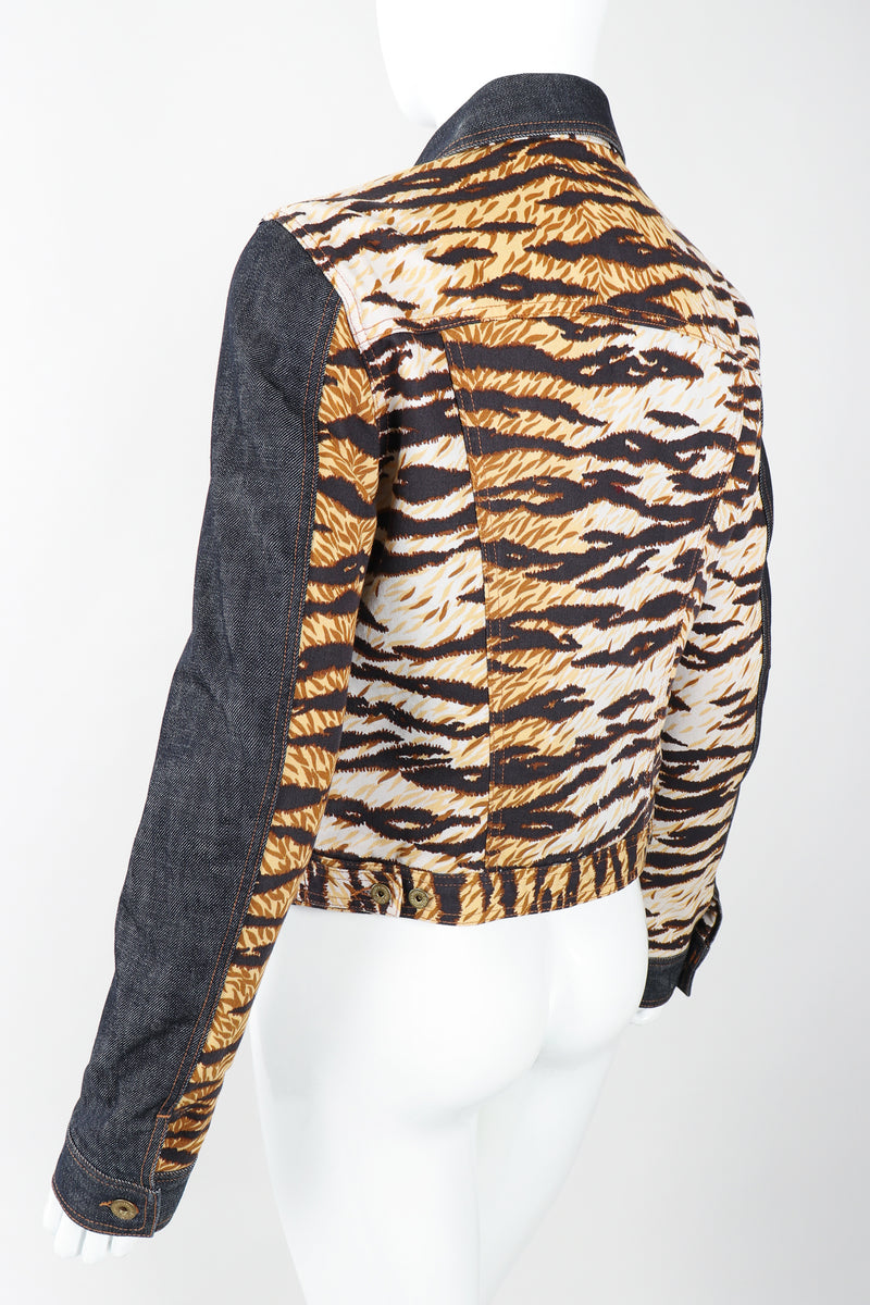 Recess Designer Consignment Vintage D&G Animal Contrast Denim Jacket Los Angeles Resale