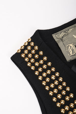 Recess Los Angeles Vintage Delah Annie Hall Tomboy Rock Gold Studded Suiting Vest