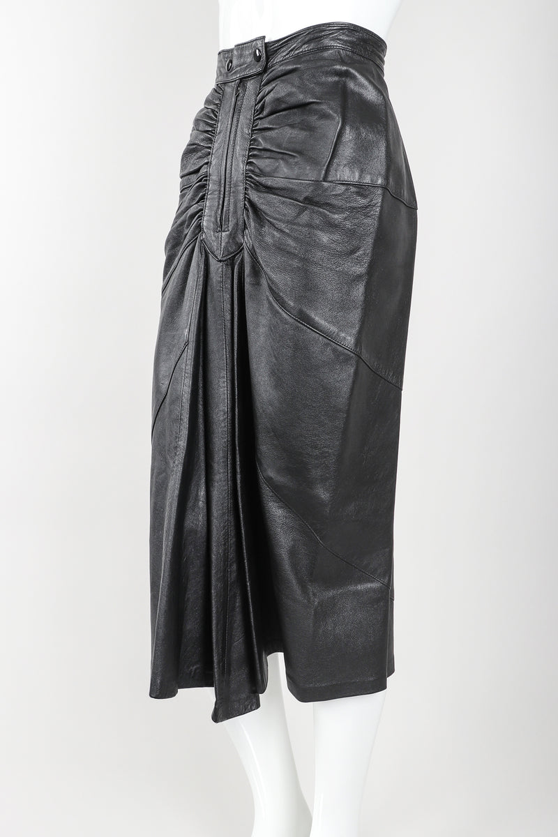 Recess Vintage Dero Enterprises Black Leather Skirt On Mannequin