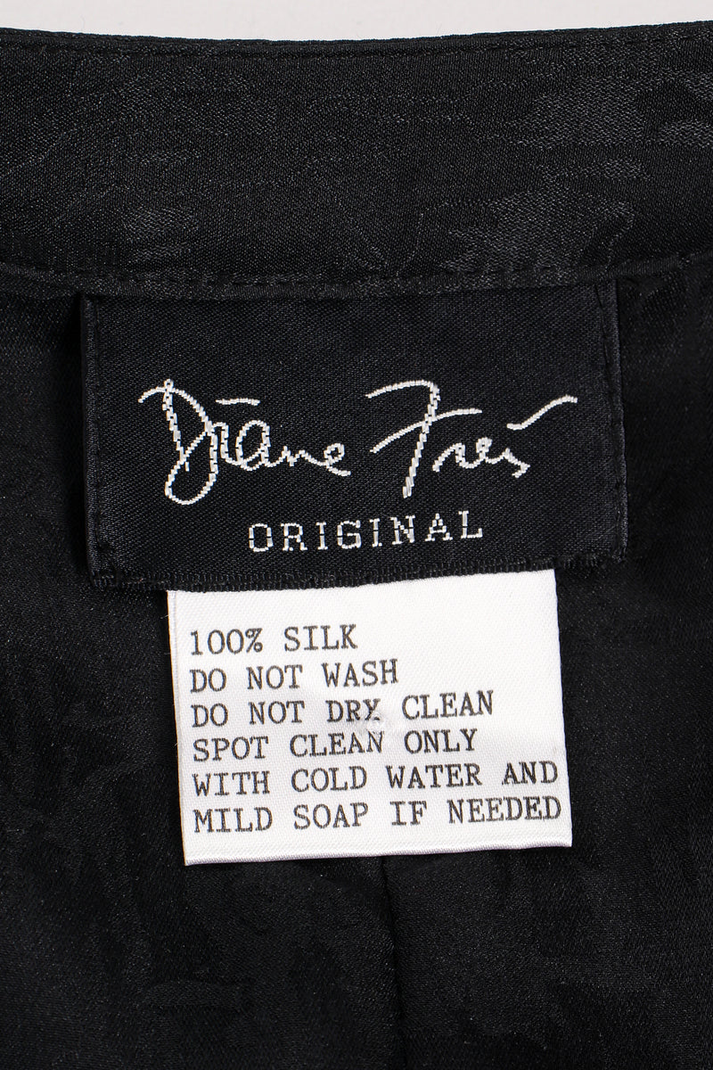 Vintage Diane Freis Tropical Beaded Silk Duster label at Recess Los Angeles