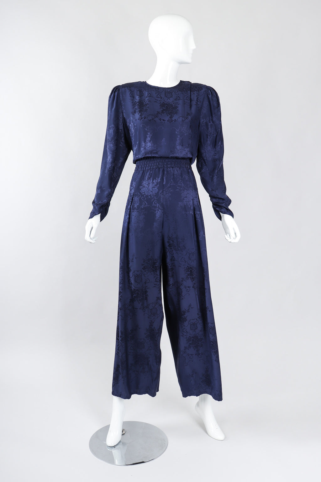Recess Los Angeles Vintage Diane Freis Silk Damask Power Jumpsuit