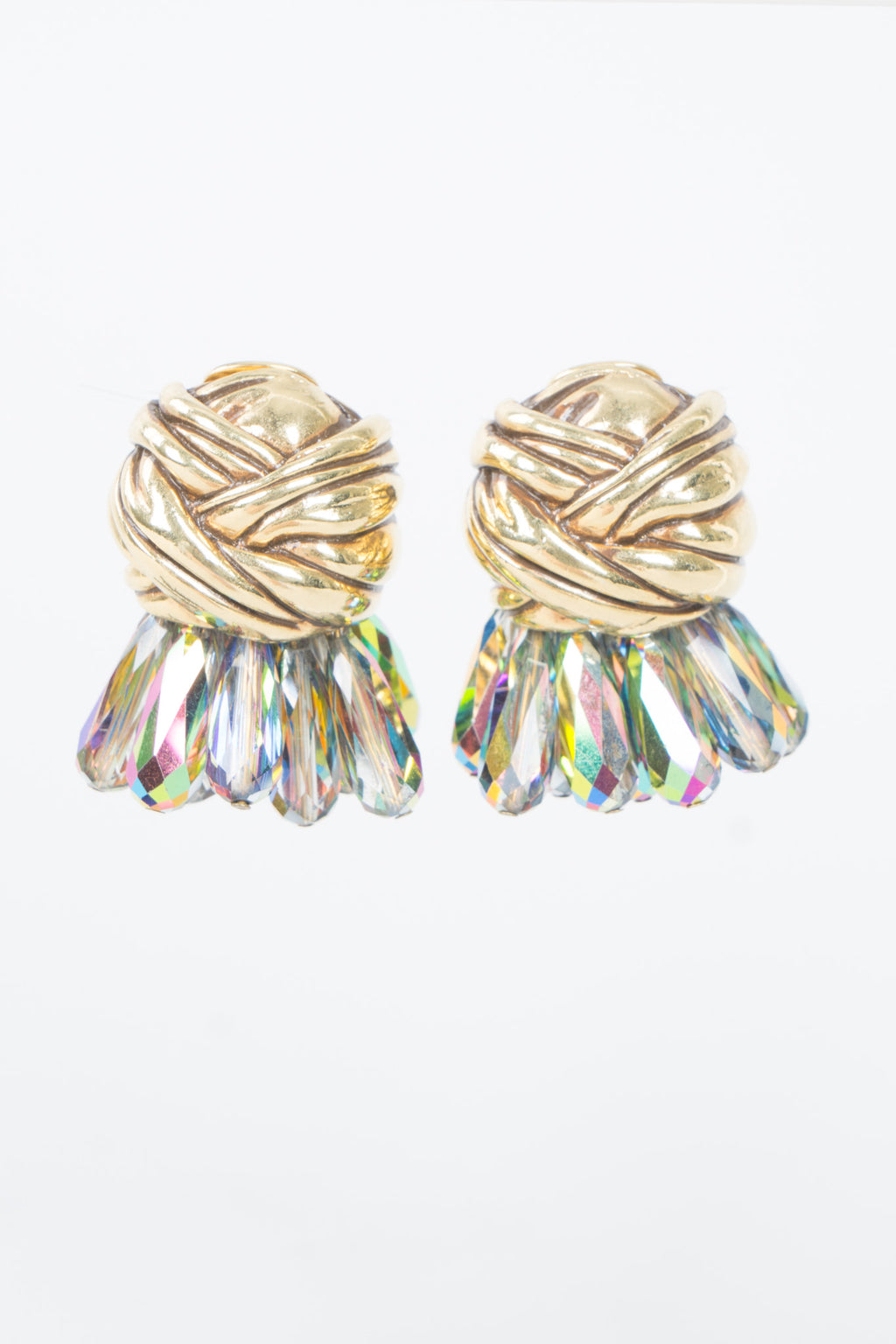 Diva Paradise Shine Crystal Cluster Turban Clip Earrings