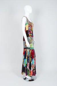 Vintage Dolce & Gabbana Spring/Summer 1993 Collection Patchwork Mermaid Gown on Mannequin, Side