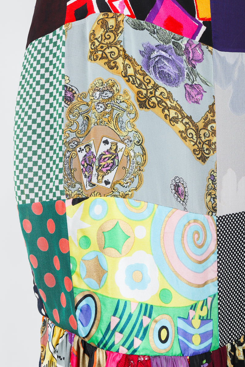 Vintage Dolce & Gabbana Spring/Summer 1993 Collection Patchwork Fabric Close Up