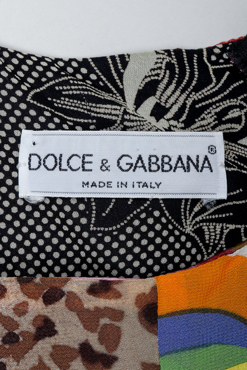 Vintage Dolce & Gabbana Spring/Summer 1993 Collection Label on fabric