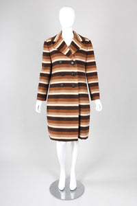 Recess Los Angeles Vintage Donald Brooks Pudding Pop Striped Wool Coat