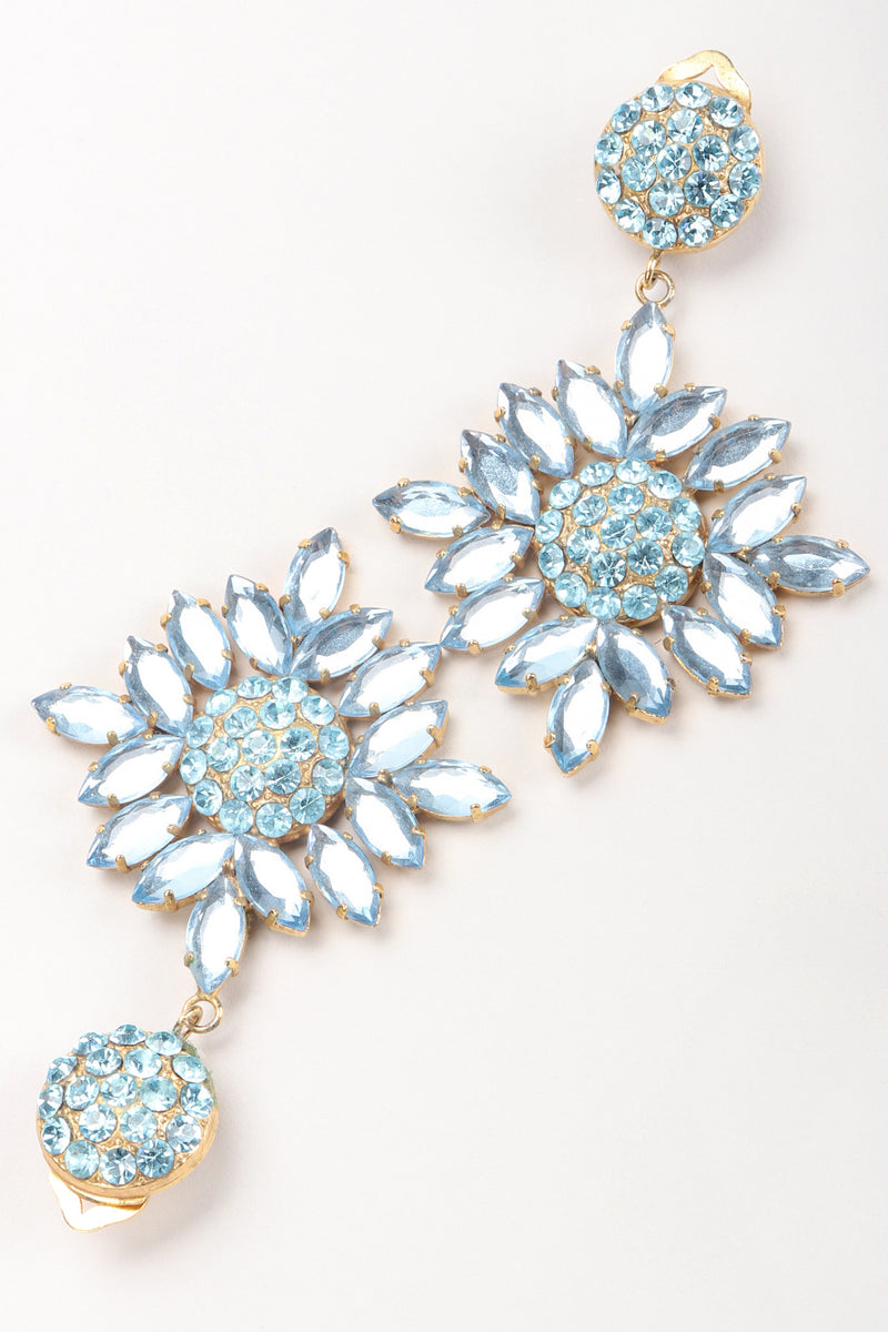 Recess Los Angeles Vintage Donna Donna Blue Crystal Daisy Earrings