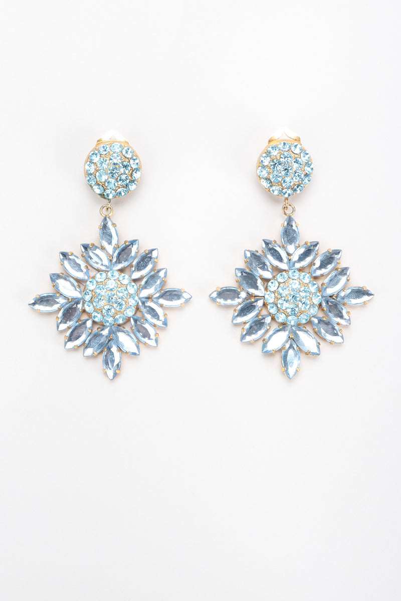 Recess Los Angeles Vintage Donna Donna Blue Crystal Sunflower Earrings