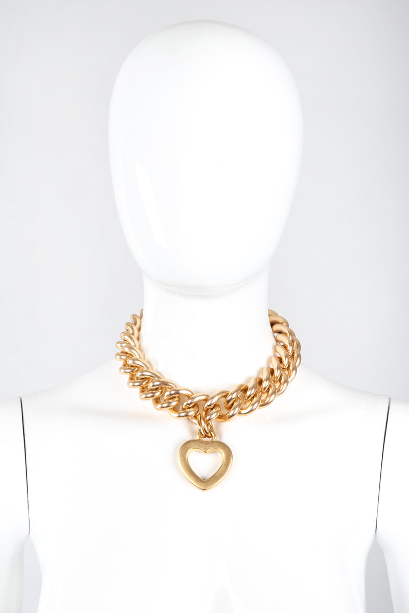 Recess Los Angeles Vintage Erwin Pearl Heart Pendant Chain Collar