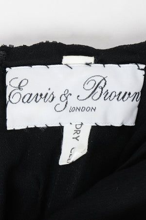 Vintage Eaves & Brown Beaded Silk Event Dress Label at Recess