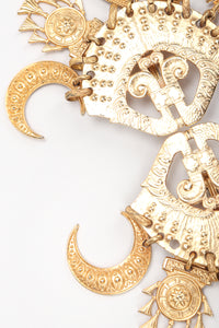 Recess Vintage Edouard Rambaud Gold Etruscan Chandelier Earrings, Texture Detail