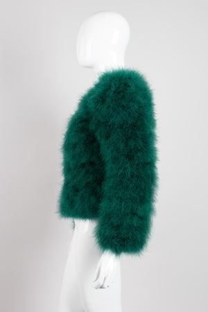 Evergreen Vintage Chubby Marabou Feather Jacket