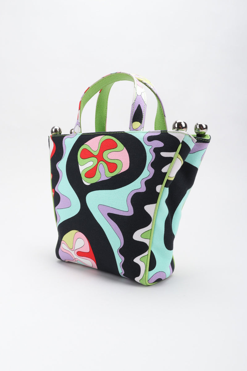 Recess Los Angeles Vintage Pucci Canvas Psychedelic Print Mini Tote Handbag