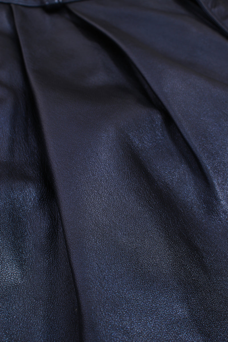Vintage Erez Metallic Pleated Leather Pant fabric at Recess Los Angeles