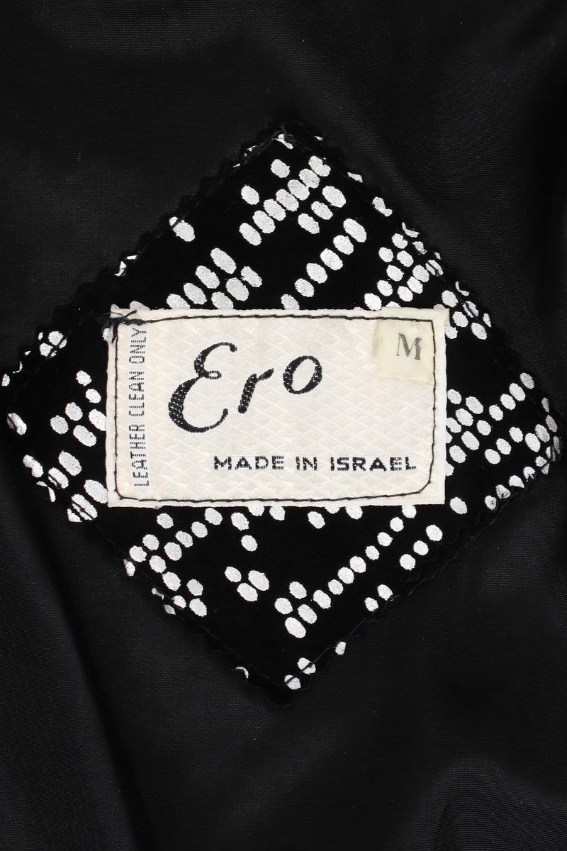 Vintage Ero Foiled Suede Bomber Jacket & Pant Set label at Recess LA
