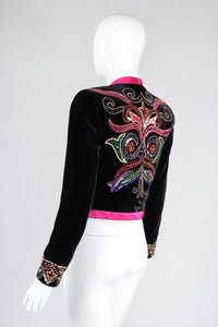 Recess Los Angeles Vintage Escada Embellished Velvet Bolero Jacket