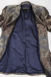 Recess Los Angeles Vintage Escada Royal Golden Brocade Jacket & Pant Suit