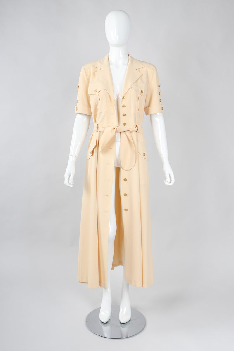 Recess Los Angeles Vintage Escada Safari Day Shirt Dress