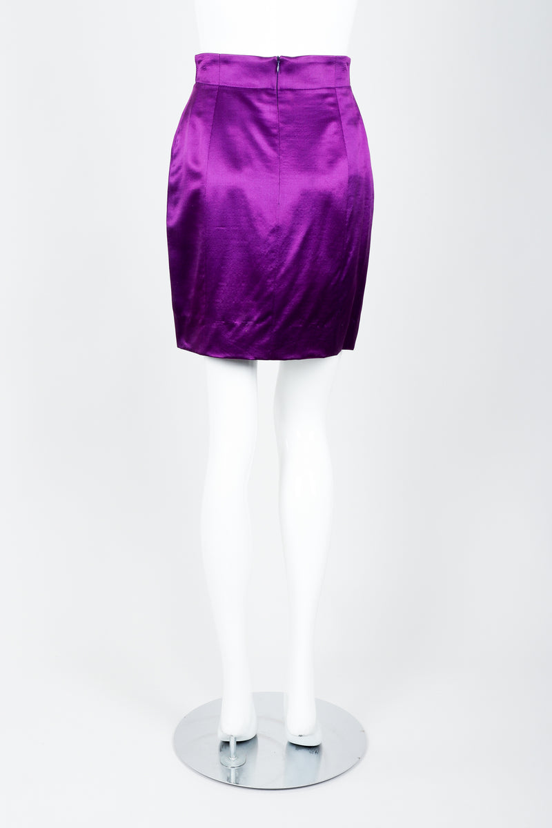 Vintage Escada Magical Satin Skirt Suit on Mannequin Back at Recess